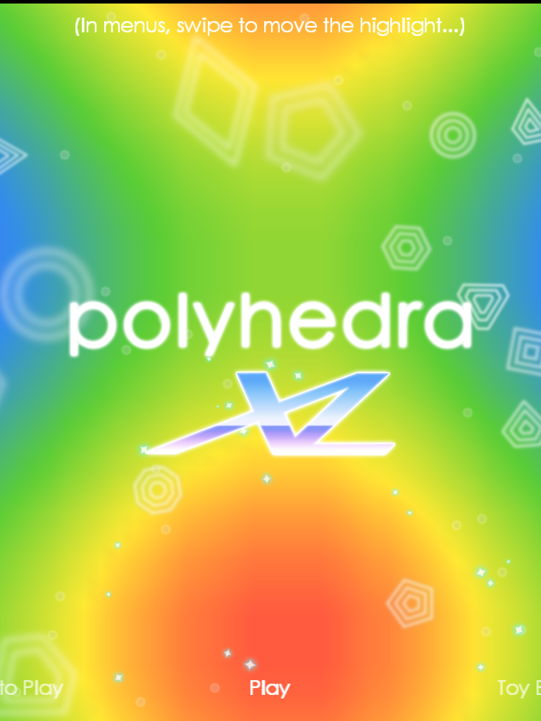 polyhedra XL Main Menu